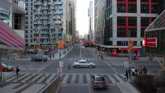 Front Street and John Street Toronto Stock Footage