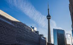 Toronto CN Tower and Union Renovation Stock Photos