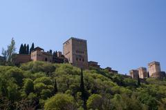 alhambra - stock photo