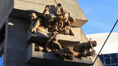 The Audience Sculpture Rogers Centre Toronto Stock Footage