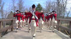 The Old Guard Patriot's Day 2014 Stock Footage