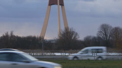 Television tower in Riga Stock Footage