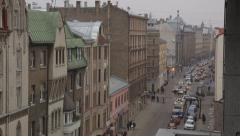 Traffic in Riga - stock footage