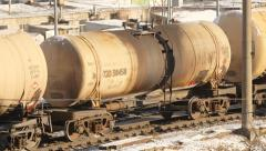 Oil tanker train - stock footage