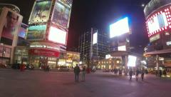 Yonge Dundas Square Toronto 360 Time Lapse (4K) - stock footage