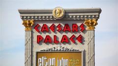 Stock Video Footage of Caesars Palace 04 HD