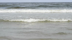 Break-wave of the Baltic sea in Poland Stock Footage