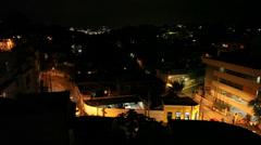 Night landscape. Rio de Janeiro. Brazil Stock Footage