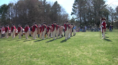 Stock Video Footage of The Old Guard Patriot's Day 2014