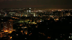 Night landscape. Rio de Janeiro, Brazil Stock Footage