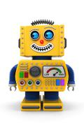 toy robot looking to the left - stock illustration