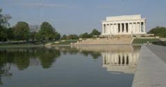 Lincoln Memorial Medium Wide shot 002 Stock Footage