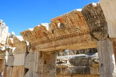 The ruins in amphitheater at myra, turkey Stock Photos