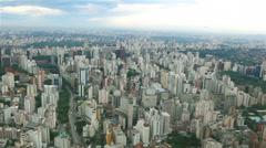 Aerial shot of Sao Paulo City Stock Footage