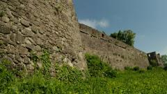 The Uzhgorod castle is the old fortress of Transcarpathia Stock Footage