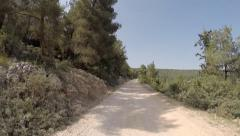 The Jesus Trail in the Galilee, where Jesus possibly walked in Israel Stock Footage