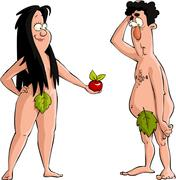 Adam and eve Stock Illustration