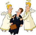Stock Illustration of businessman and angels