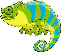 chameleon - stock illustration