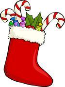 sock of gifts - stock illustration