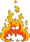 Cartoon flame Stock Illustration