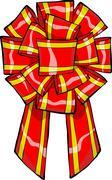 gift bow - stock illustration