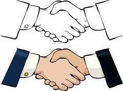 Handshake Stock Illustration