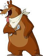 Hungry bear Stock Illustration