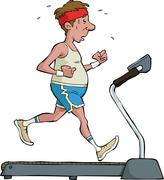 Treadmill Stock Illustration