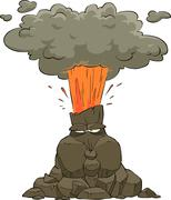 Volcano Stock Illustration