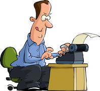 Writer Stock Illustration