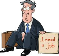 needs a job - stock illustration