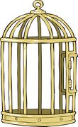bird cage - stock illustration