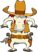 Stock Illustration of cowboy horse