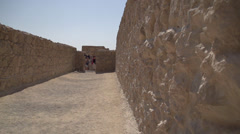 Massada Fortress Israel Stock Footage