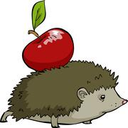 hedgehog - stock illustration
