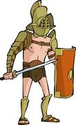 Stock Illustration of roman gladiator