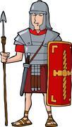roman legionary - stock illustration