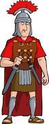 roman officer - stock illustration