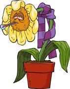 Ailing flower Stock Illustration