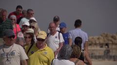 Tourists at Massada Fortress Israel Stock Footage