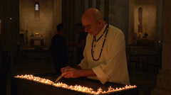 Priest at Church of St. Anne Stock Footage