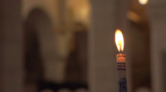 Candle at the Church of the Nativity Stock Footage