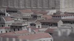 Model of Old Jerusalem Stock Footage