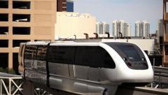 Las Vegas Monorail 02 HD Stock Footage