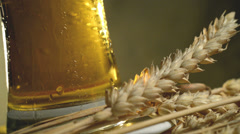 Wheat and beer,taken under studio lighting,locked down, Stock Footage