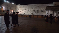 Jews at The Western Wall - stock footage