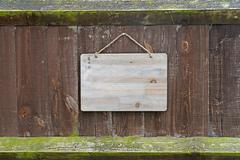 Weathered old notice board Stock Photos