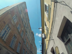 Street of Ivan Olbracht,  Uzhgorod Stock Footage