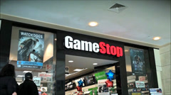 Game Stop storefront for video games Stock Footage